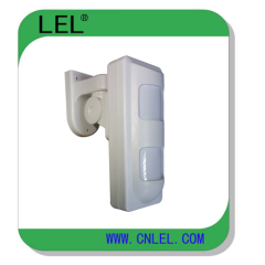 Waterproof outdoor motion detector with dual PIR and microwave motion sensor