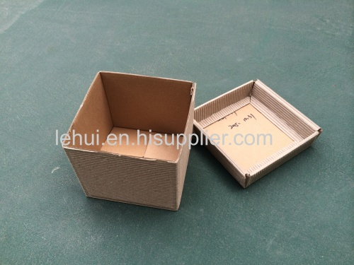 Mini Corrugated Posy Box Natural  corrugated craft gift packaging box