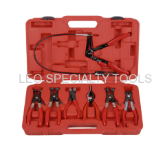 7pcs Deluxe Flexible Hose Clam Plier Kit Flexible Tool Set