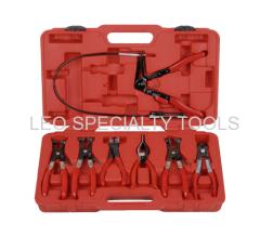 7pcs Deluxe Flexible Hose Clam Plier Kit Flexible Tool Set