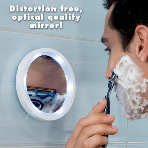 5x Magnification Makeup mirror with 6 built-in LED lights