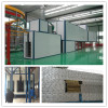 Tunnel powder coating drying oven and curing oven