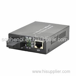 10/100TX RJ45 port Singlemode fiber media Converter