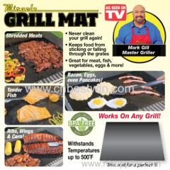 Factory Supply Black Non-stick BBQ Grill Mat