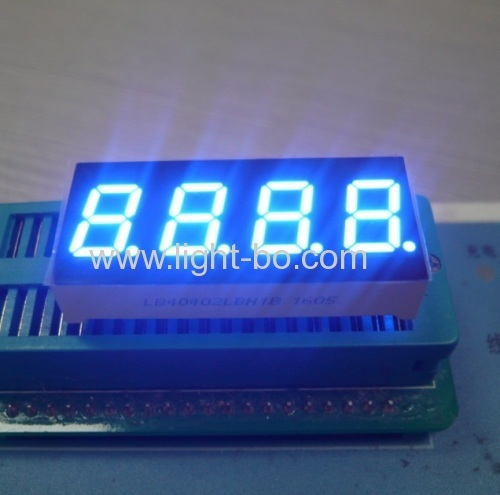 4 digit 0.4 ultra bright blue common anode 7 segment led display for temperature indicator