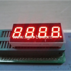 "Ultra Red 4 digit 0.4"" 7 segment led display common cathode for temperature humidity indicator"