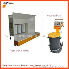 open type Powder Coating Spray Booth