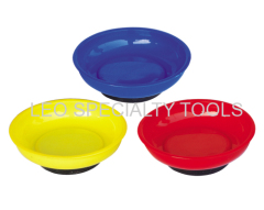 4-1/4 Inch Diameter x 7/8 Inch Depth Magnetic Color Parts Tray with 3 Different Colors