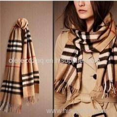 Acrylic Imitation Cashmere Stripe Or Plaid Scarf