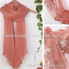100% Solid Color Scarf With Good Handfeel