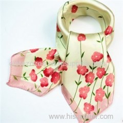 Stain Little Square Printed Scarf