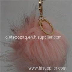 Fashion And Lifeful Faux Fur Keyring