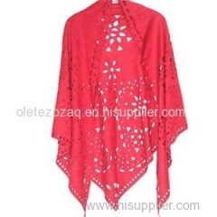 Triangle Suede Poncho With Beautiful Fringe