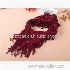 Triangle Suede Scarf With Beautiful Fringe