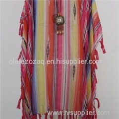 Summer Polyester Printed Beach Cover With Different And Beautiful Fringe