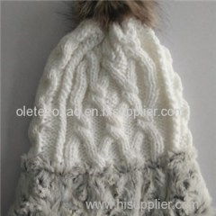 Weave Hat With Faux Fur Give You Much Warm
