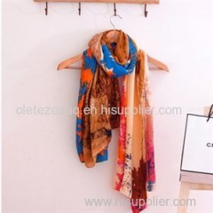 High Quality Twill Polyester Printed Scarf