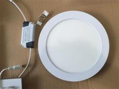 Round 9W LED Panel Light SMD2835 6W-24W Recessed Nanometer 3.0mm PS 1.2mm