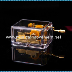 In The Garden Clear Acrylic Musical Box