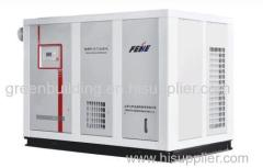 Electromotor powered single screw air compressor