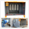 Powder coating booth system with PLC control unit