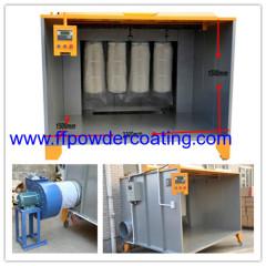 sistema di cabina di verniciatura a polvere con unità di controllo PLC