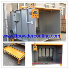 Powder coating cartridge powder spray booth