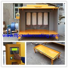 Cabina elettrostatica con sistema di controllo PLC