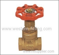Bronze Gate Valve with Orange Color Painted