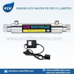 água UV filtro estéril