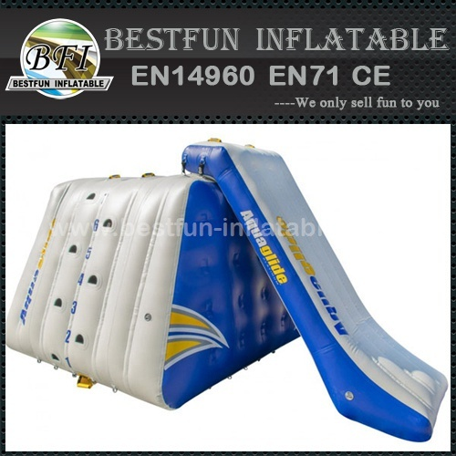 Inflatable water floating climbing with slide