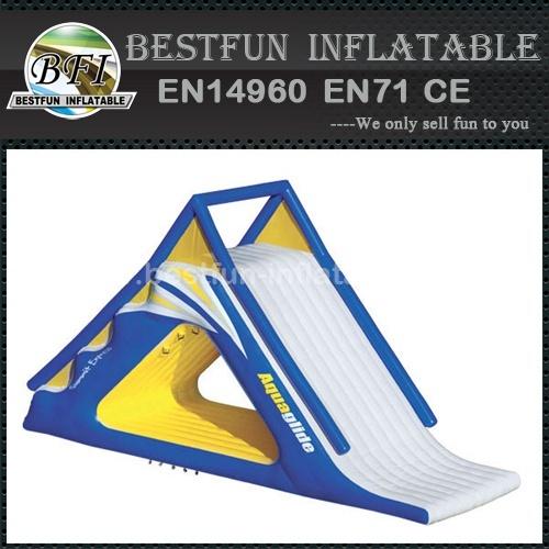Inflatable aquaglide summit slide