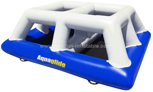 Saturn shape inflatable floating climbing