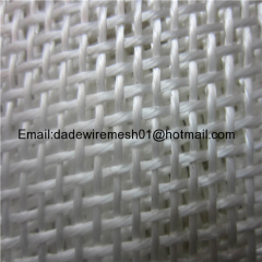 Heat resistant material feature conveyor plain weave wire fiberglass coated PTFE open mesh belts fabric
