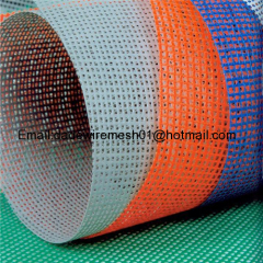 China factory Direct Sale Fiberglass Weaving Wire Mesh 160g 4x4mm Blue Color Fiberglass Mesh For Turkey