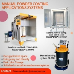 elecric powder coating oven and machine