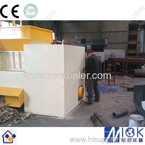 automatic plastic film double shaft shredder with high performance
