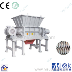 Plastic woven crushing shredder/PP PE film and jumbo bag double single shaft shredder