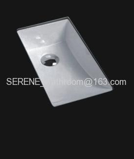 Sanitary ware ceramic rectangular under counter sinks