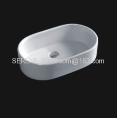 Sanitary ware ceramic white color counter top art basin