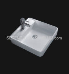 Australia Style Sanitary ware ceramic white color square counter top wash basin