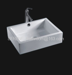 Sanitary ware ceramic white color above counter art basin