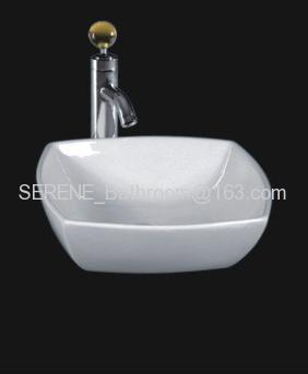 Sanitary ware ceramic white color above counter washbasin