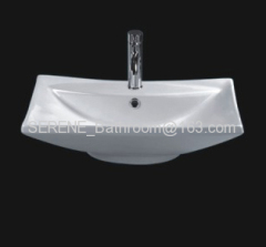 Sanitary ware ceramic white color above counter washbasin