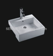 Sanitary ware ceramic white color built-in art basin