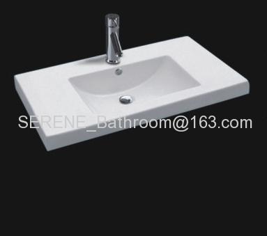 Sanitary ware ceramic white color bathroom furniture wash basin