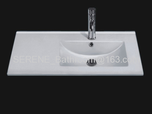 Sanitary ware ceramic white color bathroom furniture wash basin