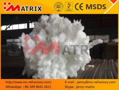 Pure white 1260 ceramic fiber cotton spun