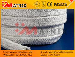 High quality thermal sealing ceramic fiber braided fiberglass square rope