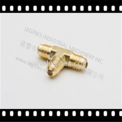 BRASS FITTINGS SAE 45DEG TEE